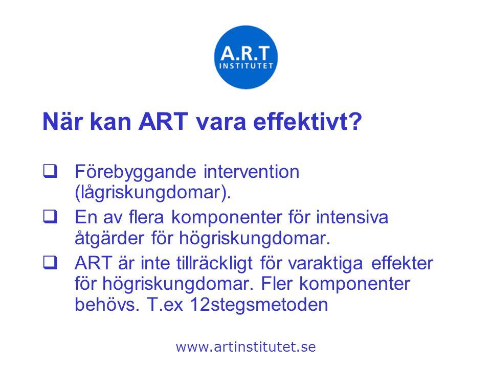 När kan ART vara effektivt