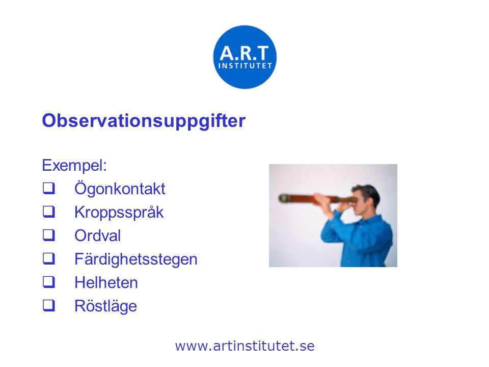 Observationsuppgifter
