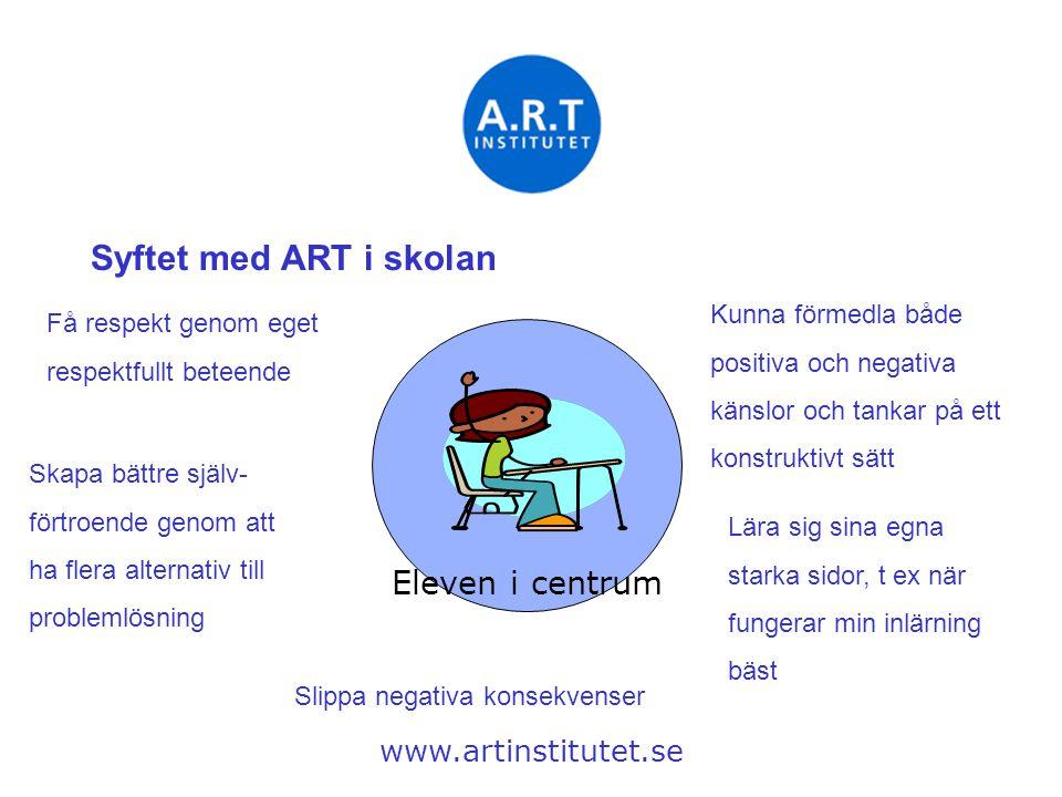 Syftet med ART i skolan Eleven i centrum Kunna förmedla både