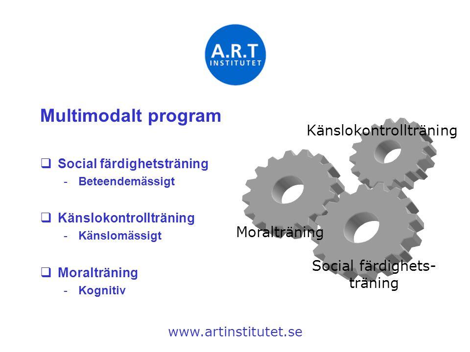 Multimodalt program Känslokontrollträning Moralträning
