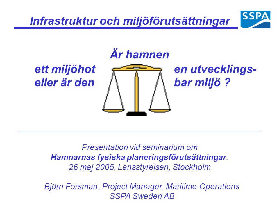 Infrastruktur och miljöförutsättningar