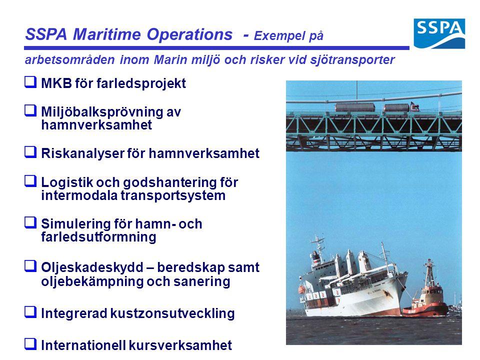 SSPA Maritime Operations - Exempel på