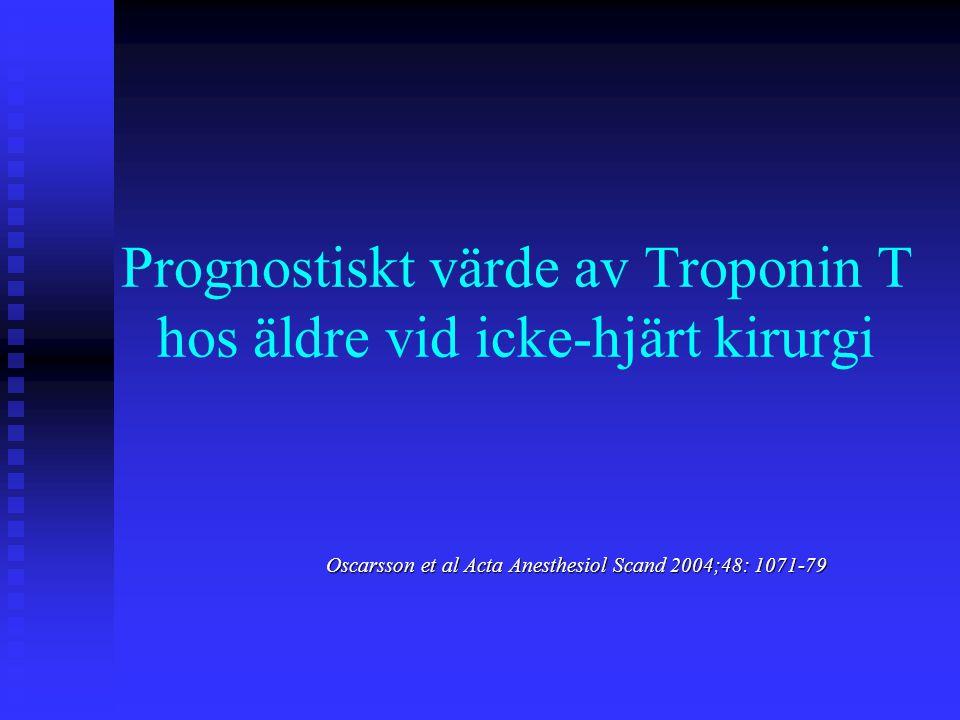 Prognostiskt värde av Troponin T hos äldre vid icke-hjärt kirurgi