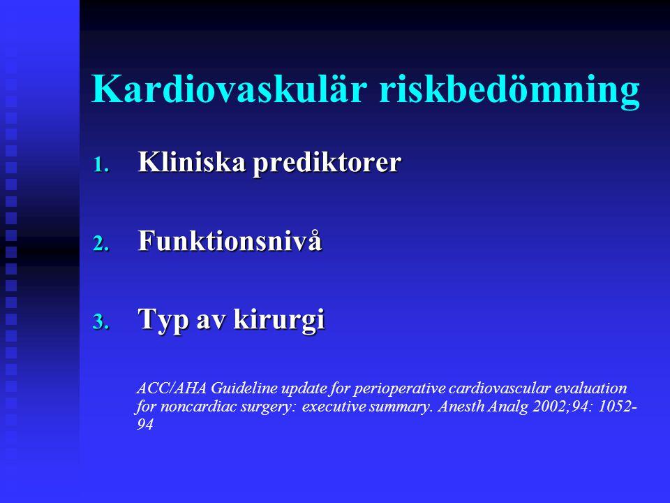 Kardiovaskulär riskbedömning