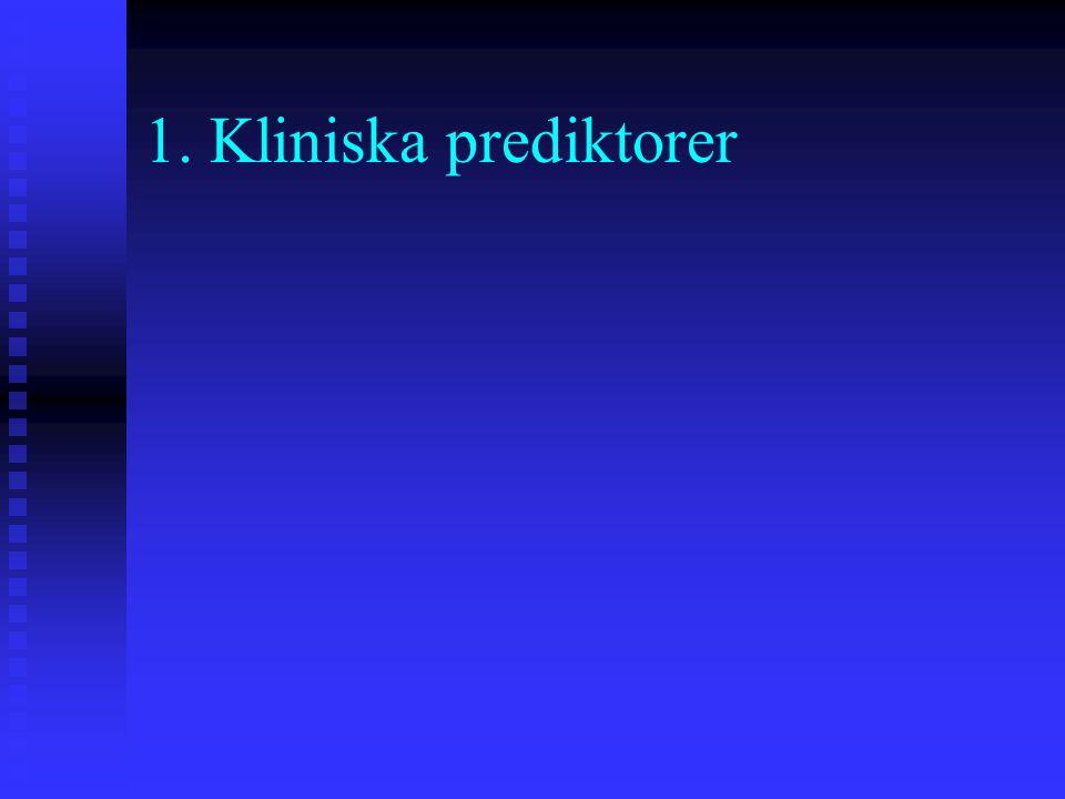 1. Kliniska prediktorer