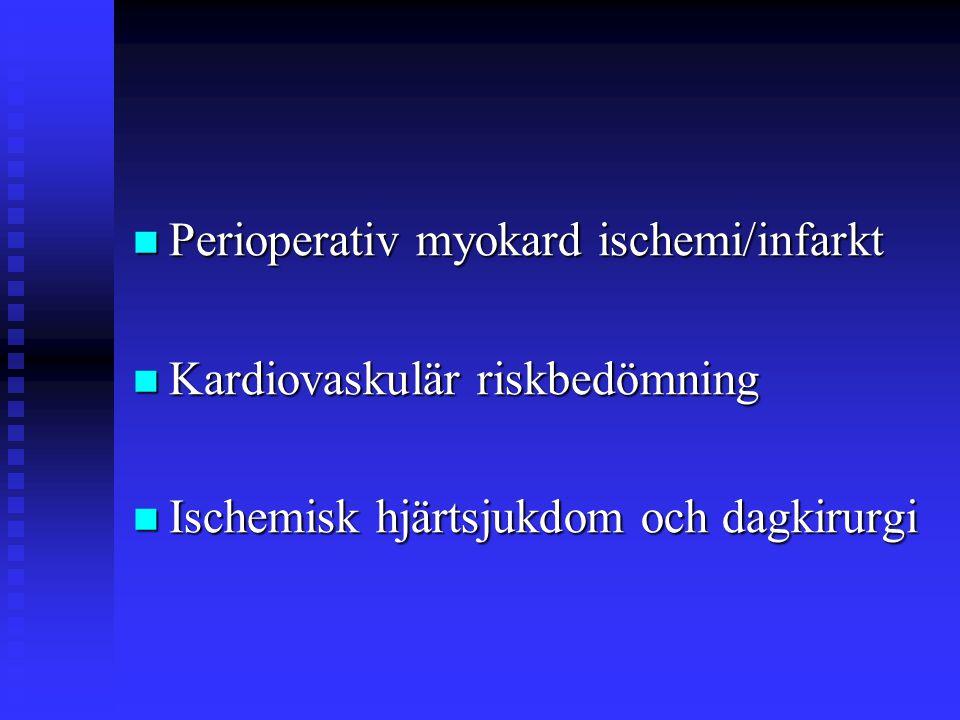 Perioperativ myokard ischemi/infarkt