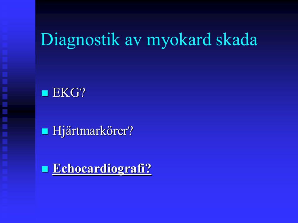 Diagnostik av myokard skada