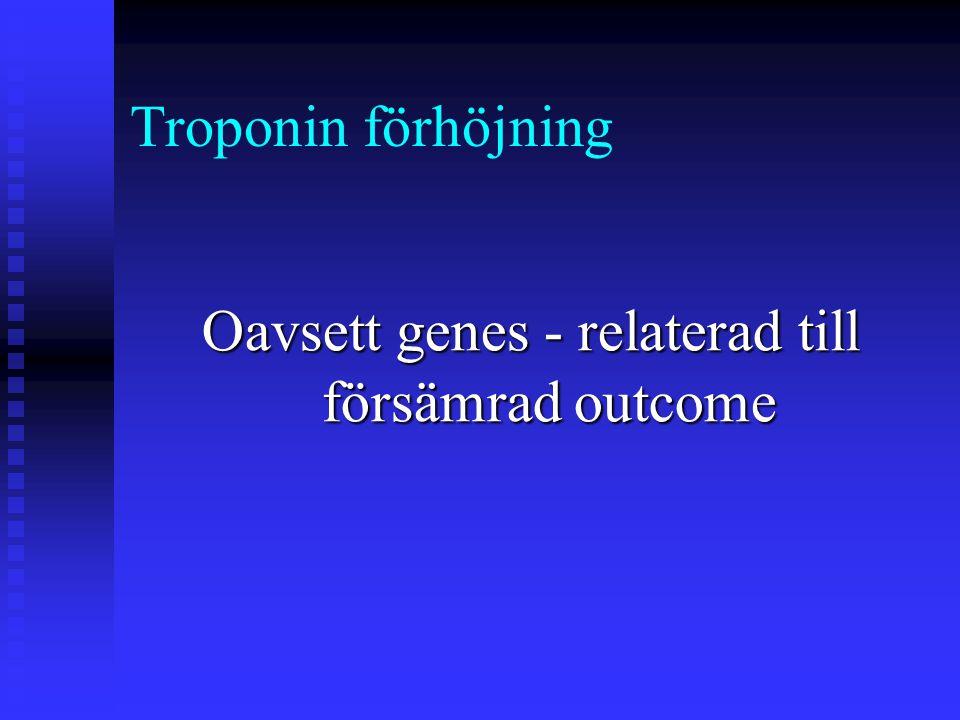 Oavsett genes - relaterad till försämrad outcome