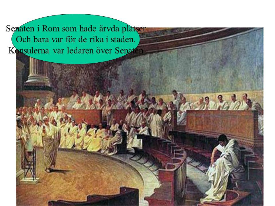 Senaten i Rom som hade ärvda platser