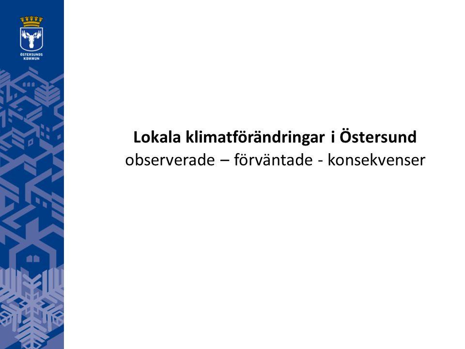 Lokala klimatförändringar i Östersund