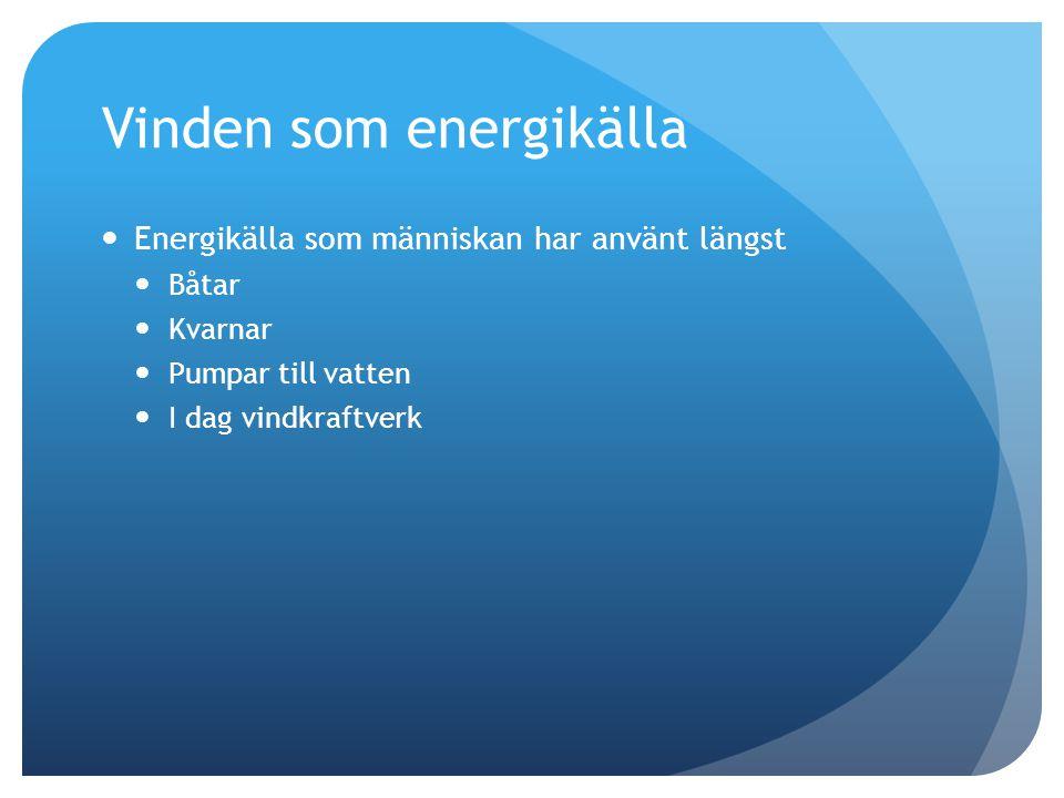Vinden som energikälla