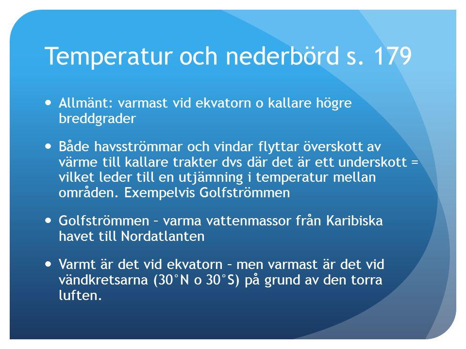 Temperatur och nederbörd s. 179