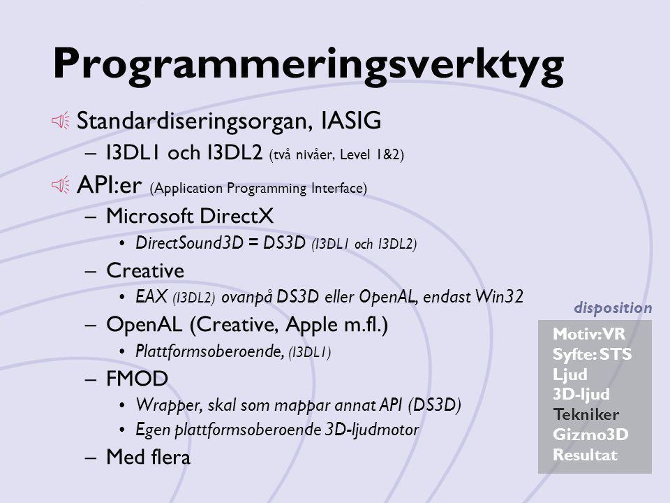 Programmeringsverktyg