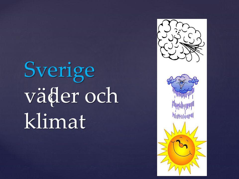 Sverige väder och klimat