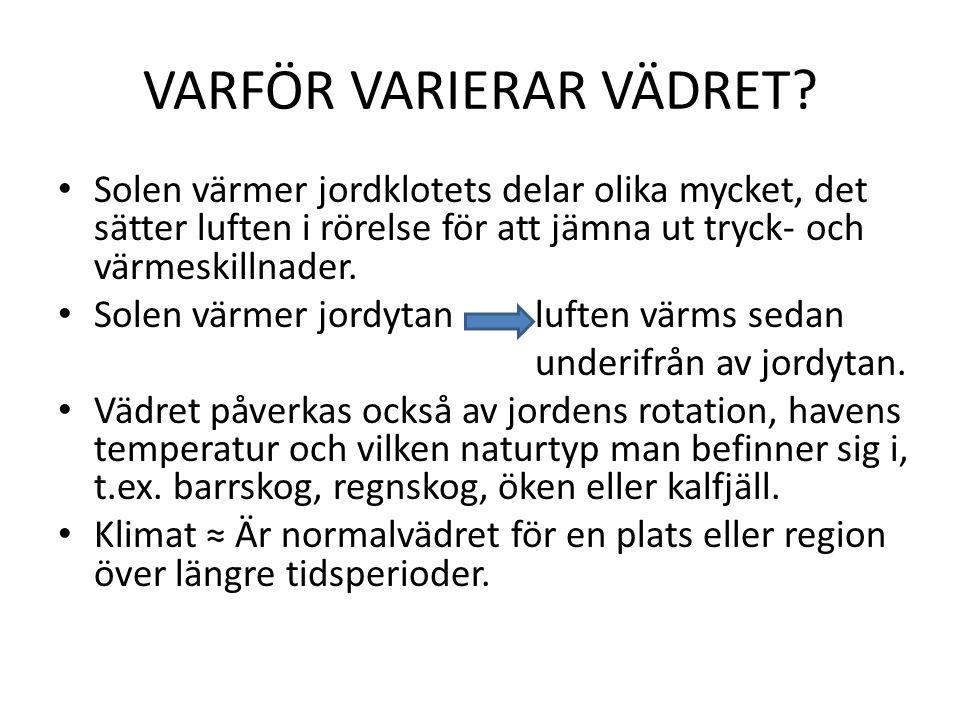VARFÖR VARIERAR VÄDRET