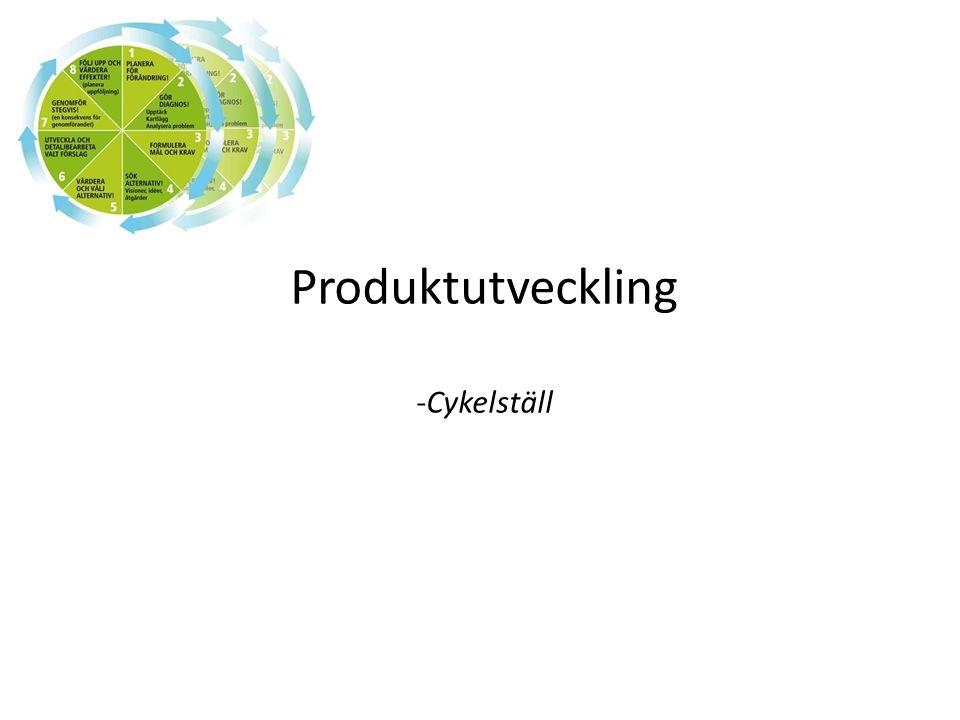 Produktutveckling -Cykelställ