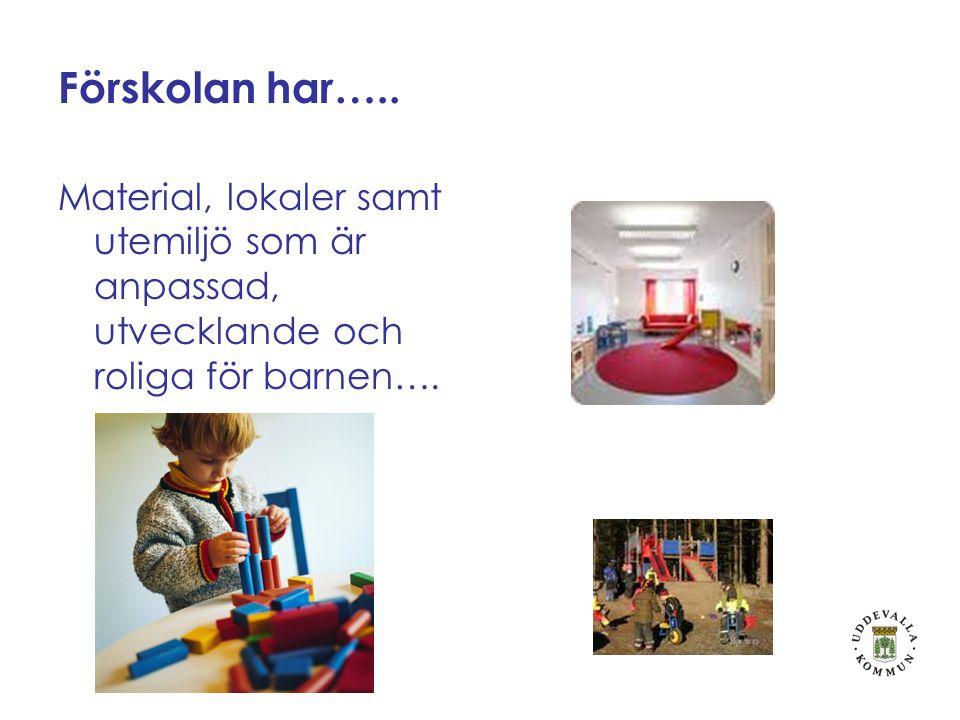 Förskolan har…..