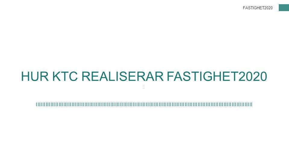 HUR KTC REALISERAR FASTIGHET2020