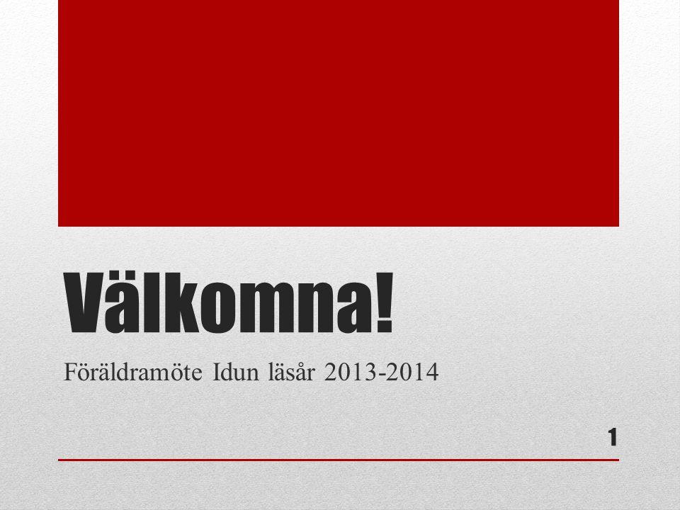 Föräldramöte Idun läsår 2013-2014
