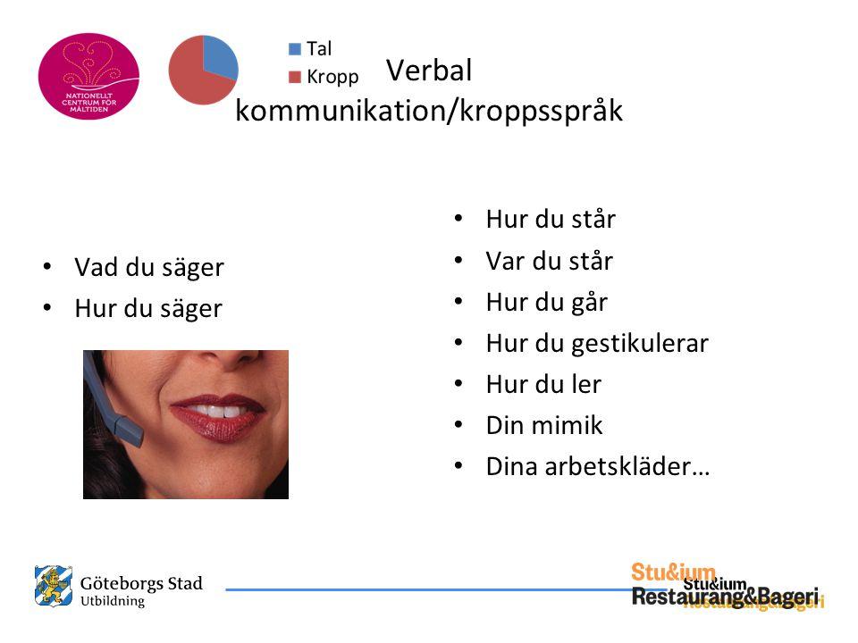 Verbal kommunikation/kroppsspråk