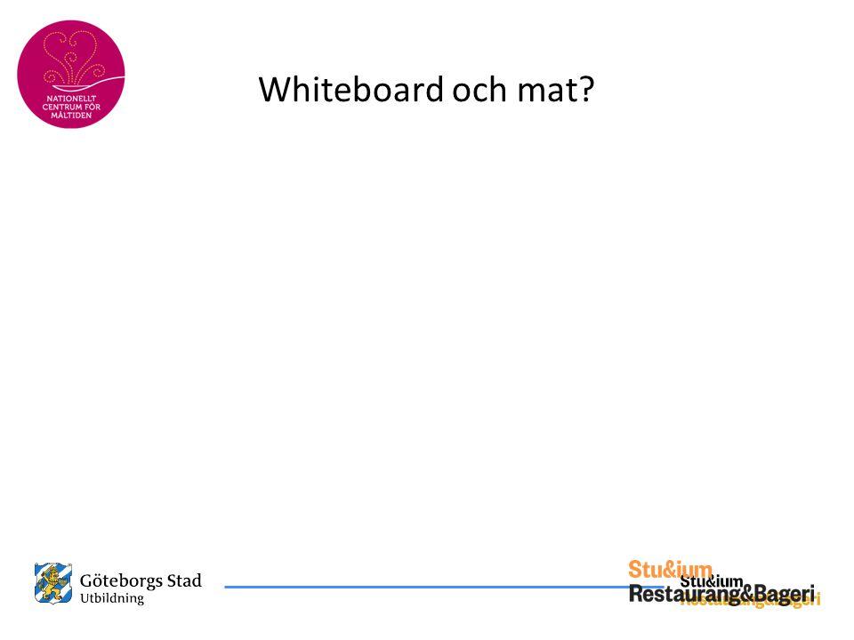 Whiteboard och mat