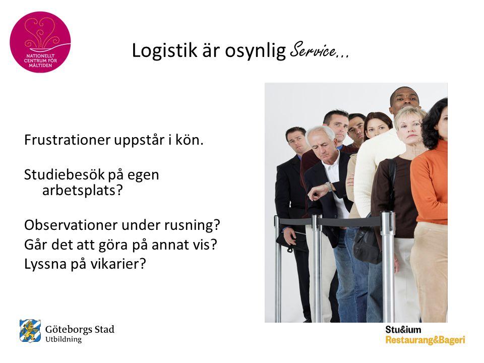 Logistik är osynlig Service…