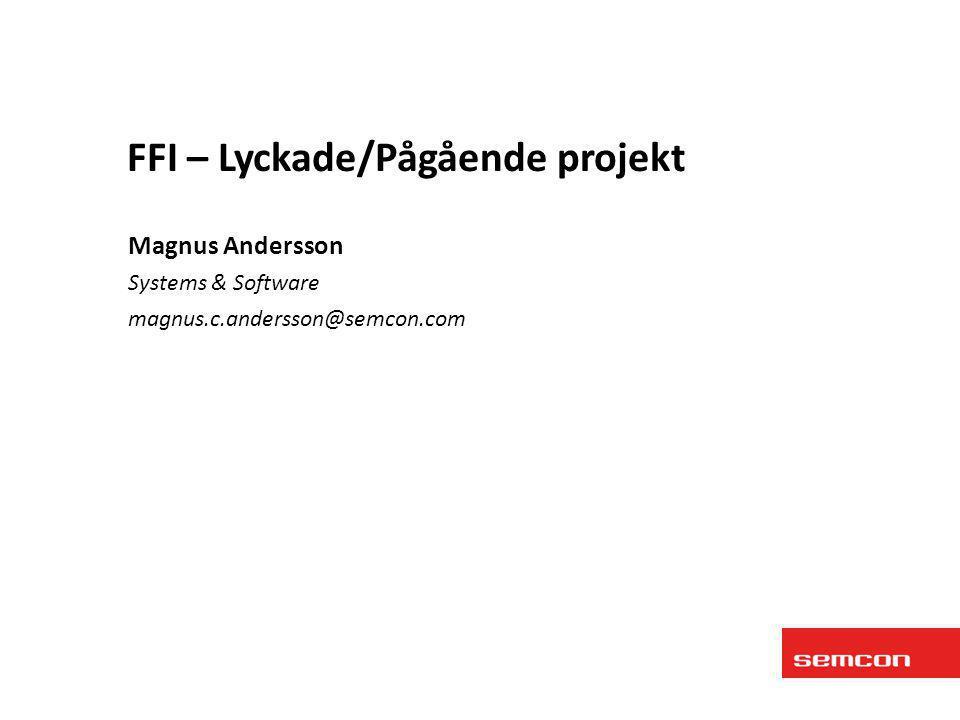 FFI – Lyckade/Pågående projekt