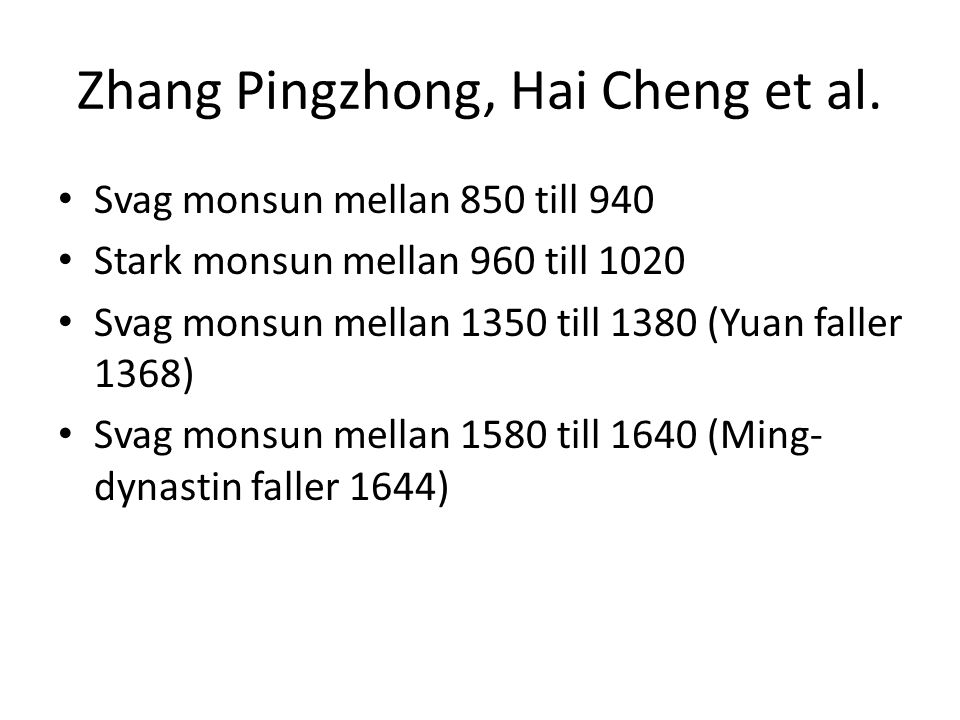 Zhang Pingzhong, Hai Cheng et al.
