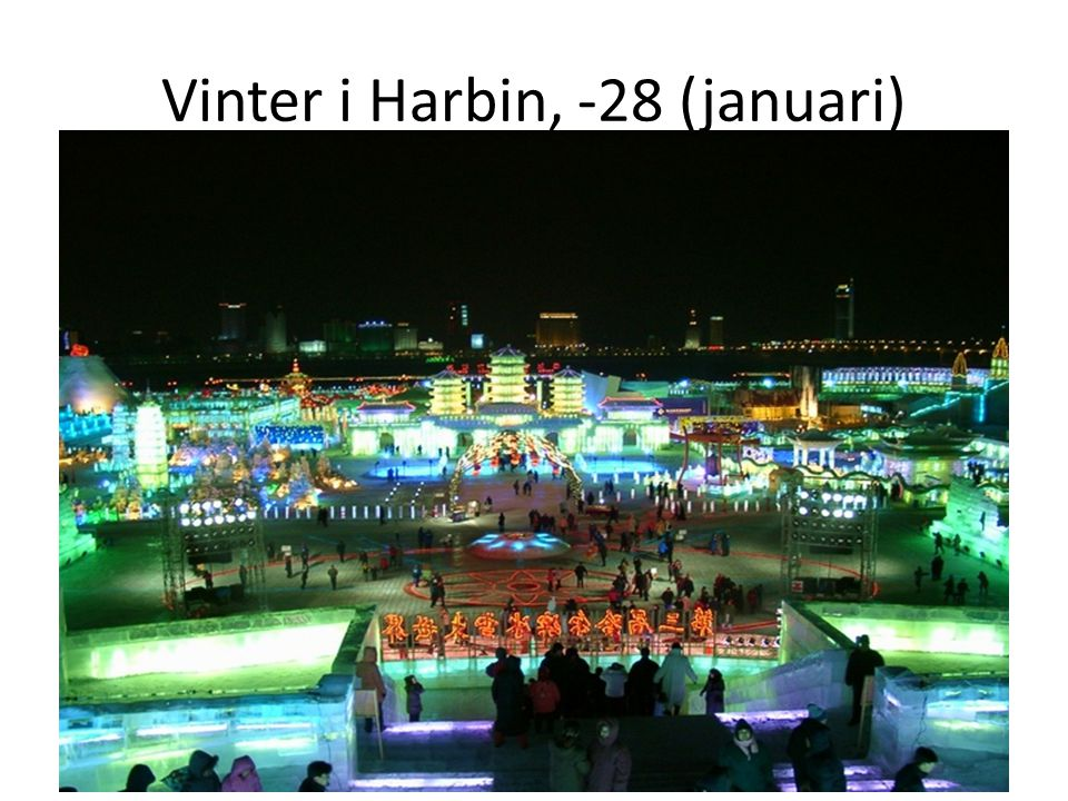 Vinter i Harbin, -28 (januari)