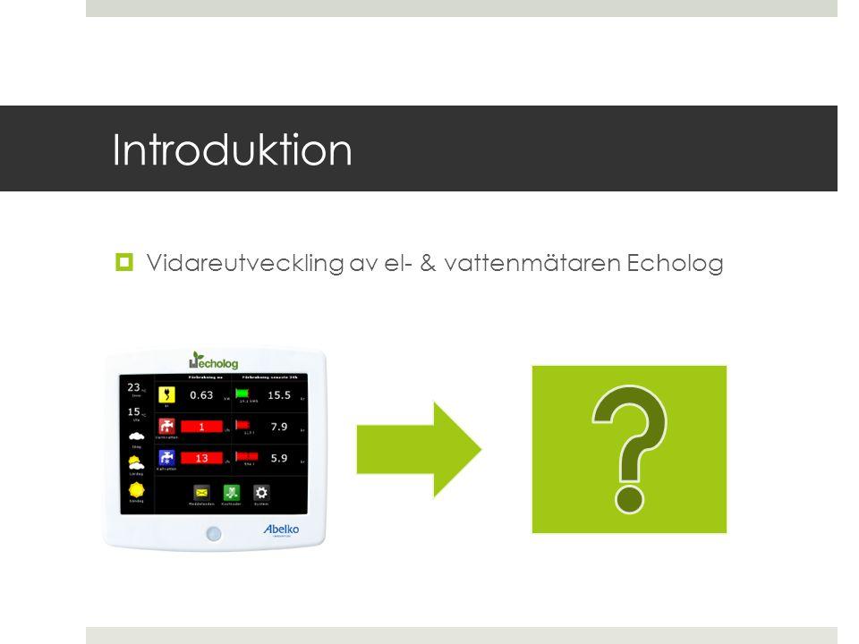 Introduktion Vidareutveckling av el- & vattenmätaren Echolog