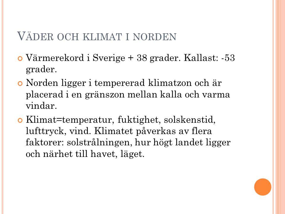 Väder och klimat i norden