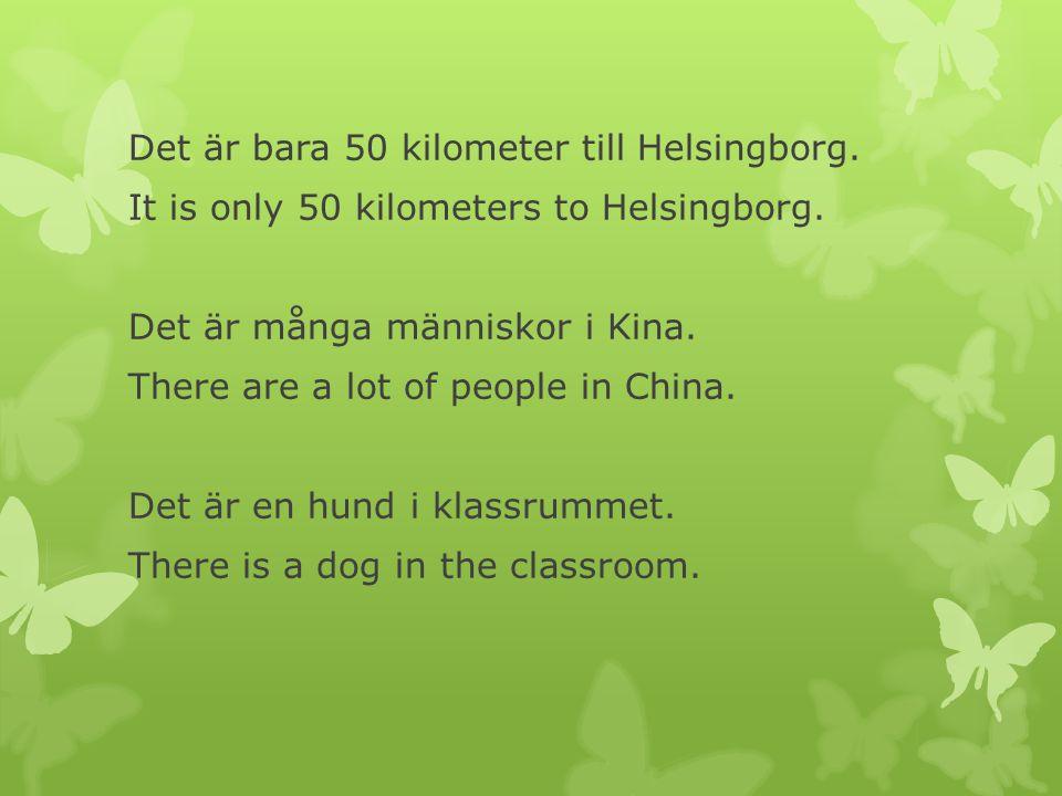 Det är bara 50 kilometer till Helsingborg