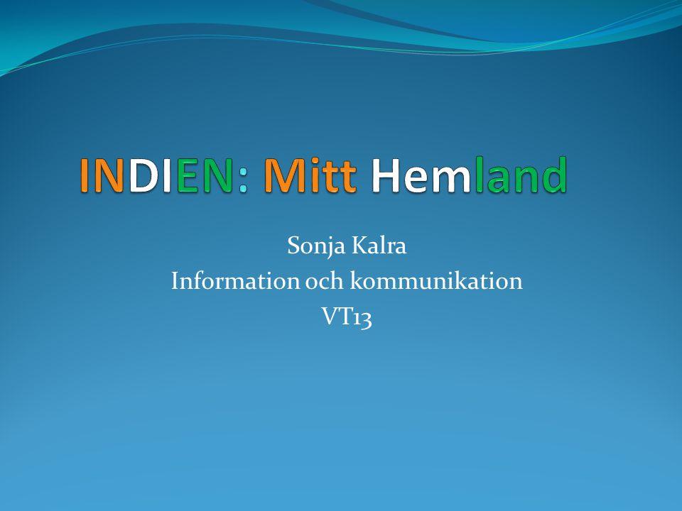 Sonja Kalra Information och kommunikation VT13