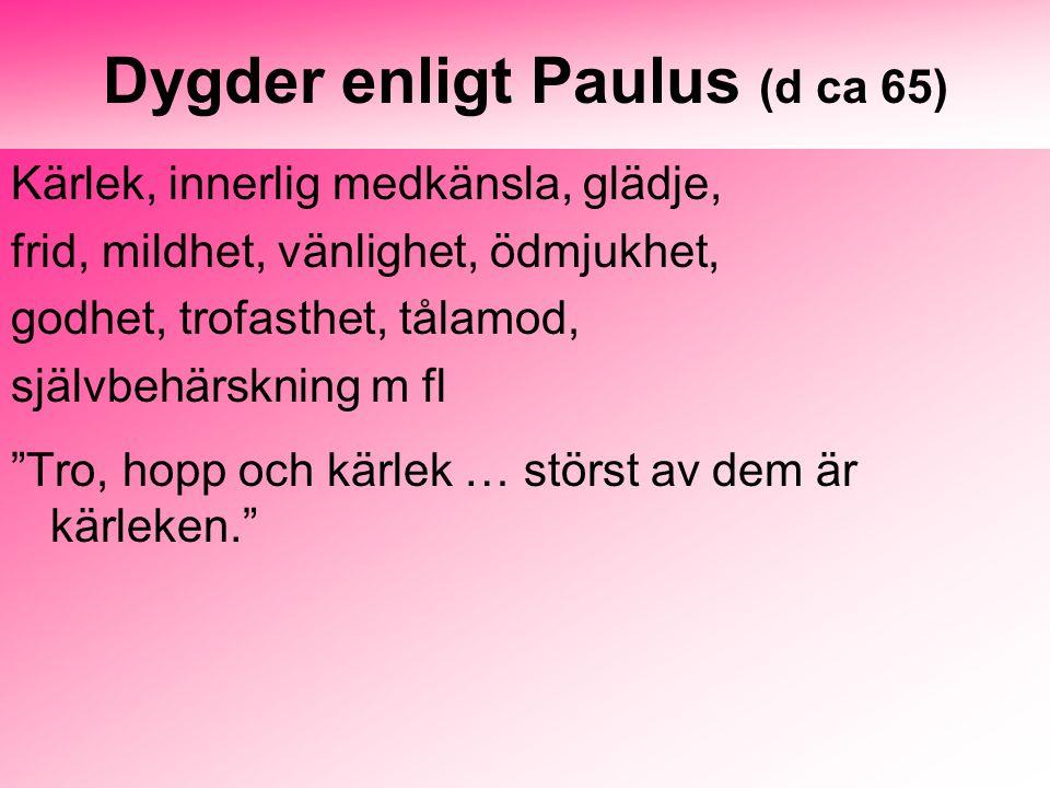 Dygder enligt Paulus (d ca 65)