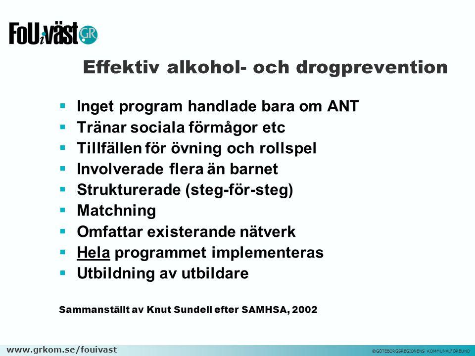 Effektiv alkohol- och drogprevention