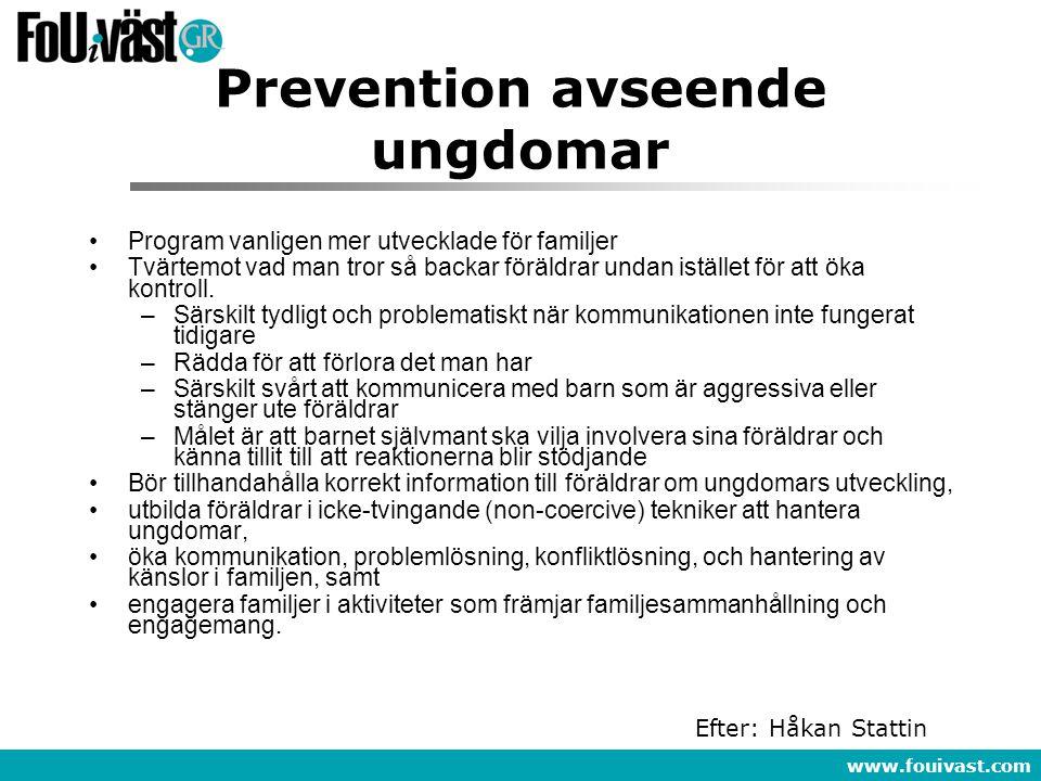 Prevention avseende ungdomar