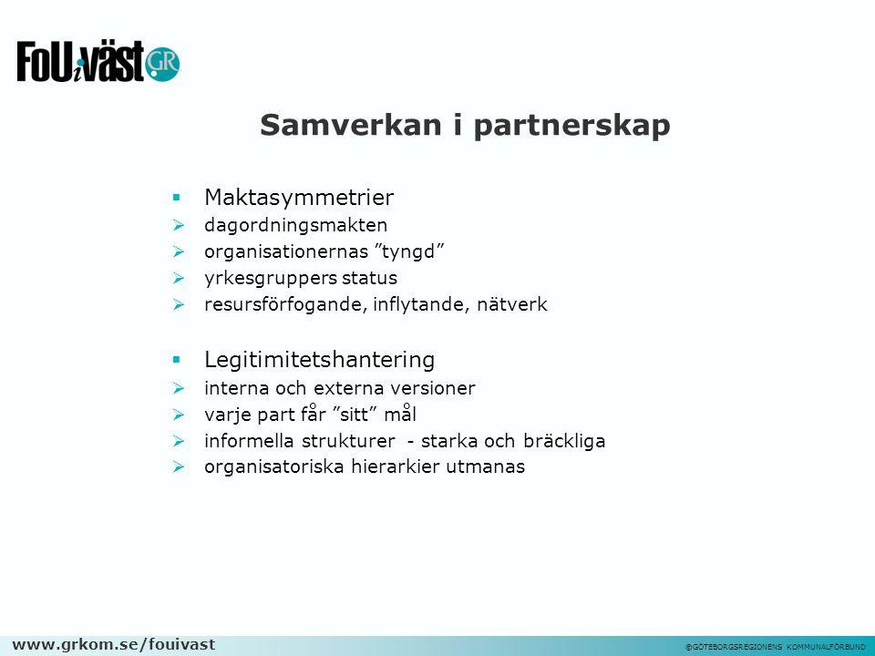 Samverkan i partnerskap