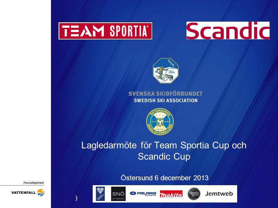 Lagledarmöte för Team Sportia Cup och Scandic Cup