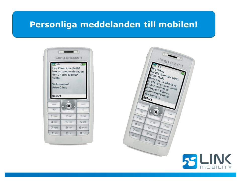 Personliga meddelanden till mobilen!