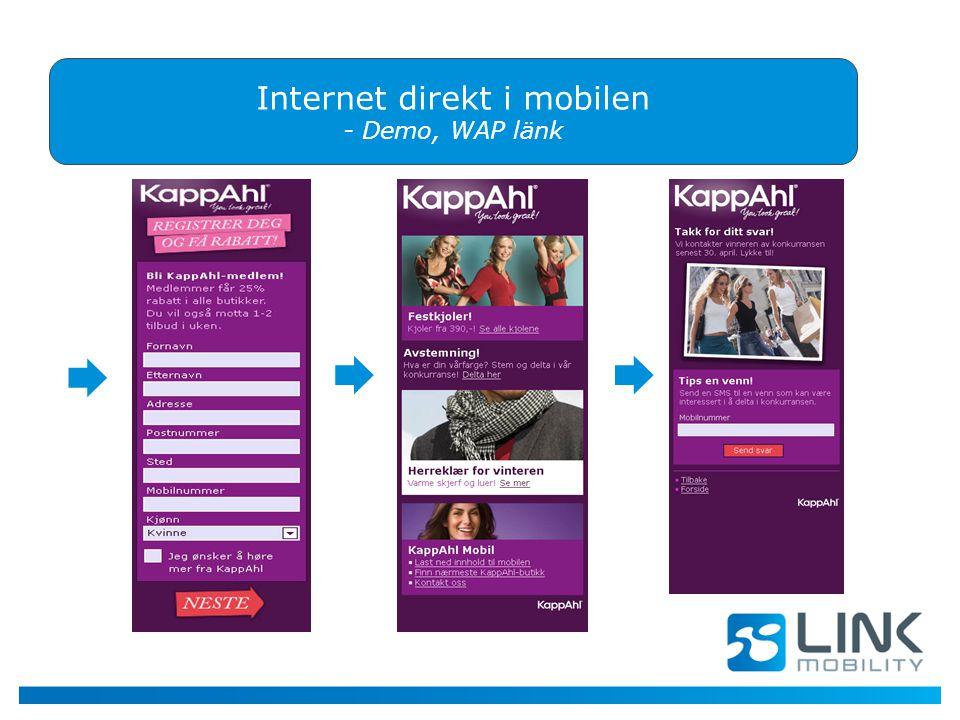 Internet direkt i mobilen