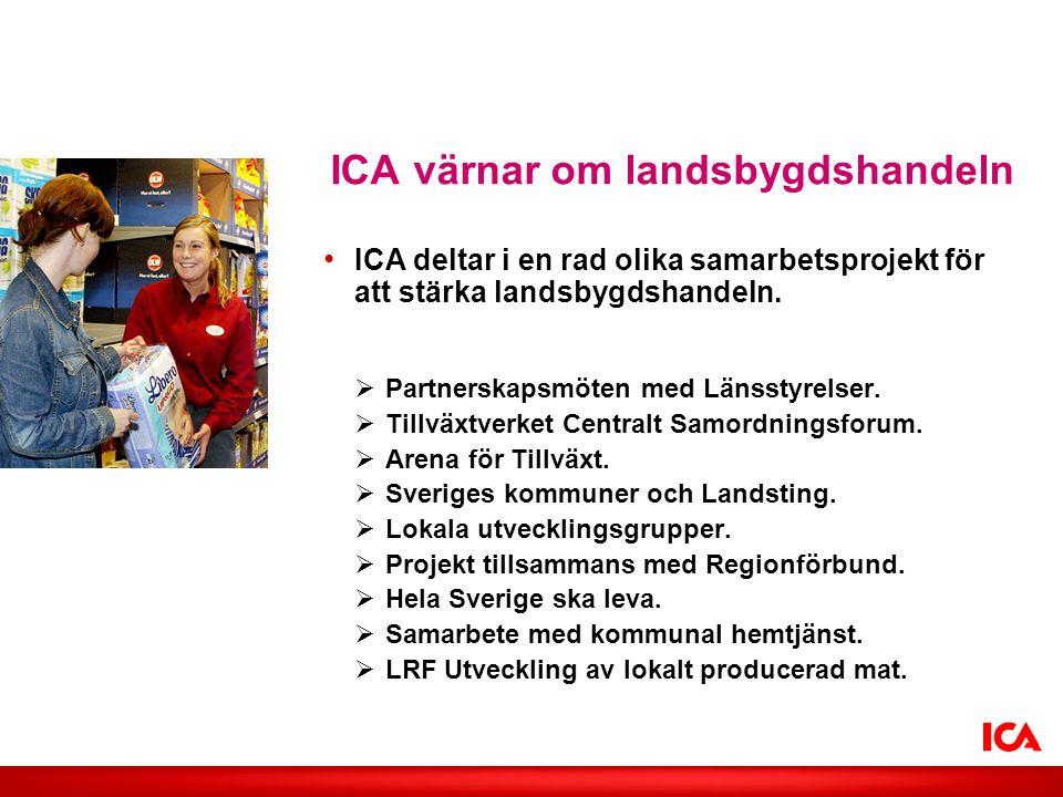 ICA värnar om landsbygdshandeln