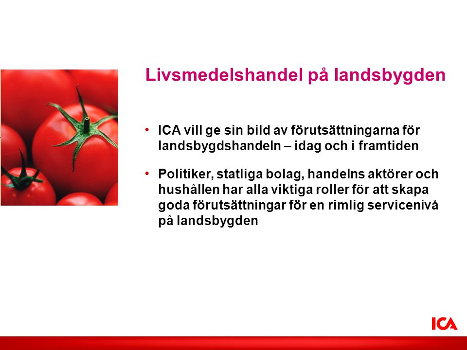 Livsmedelshandel på landsbygden