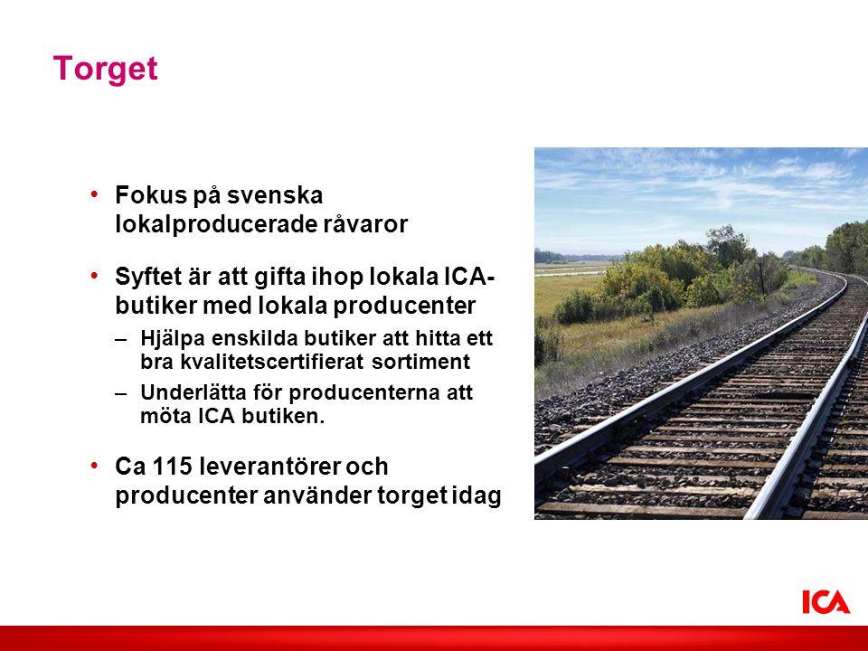 Torget Fokus på svenska lokalproducerade råvaror