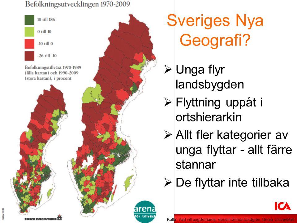 Sveriges Nya Geografi Unga flyr landsbygden
