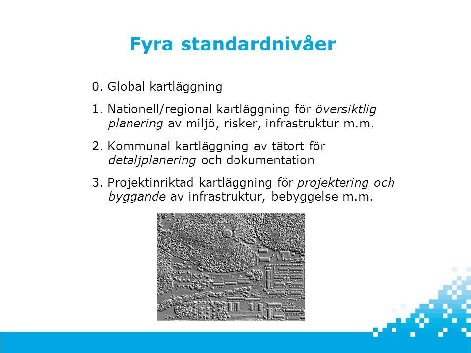 Fyra standardnivåer 0. Global kartläggning