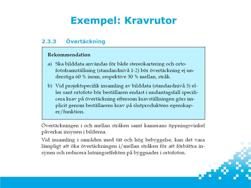 Exempel: Kravrutor