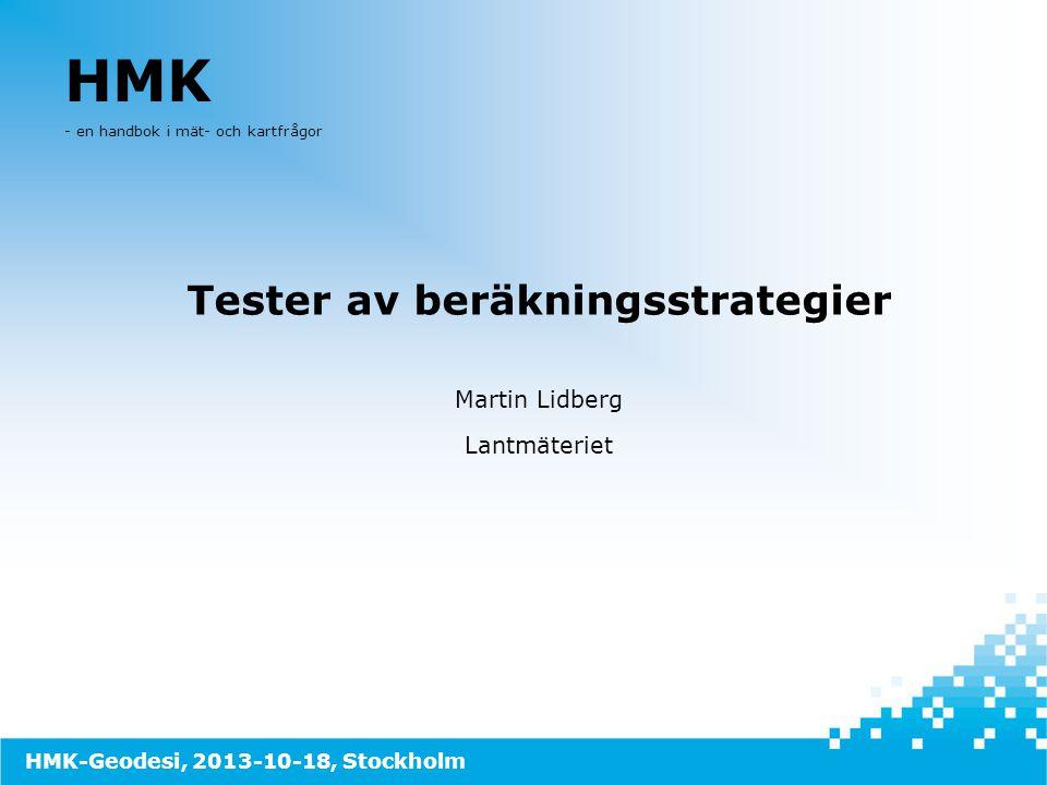 Tester av beräkningsstrategier