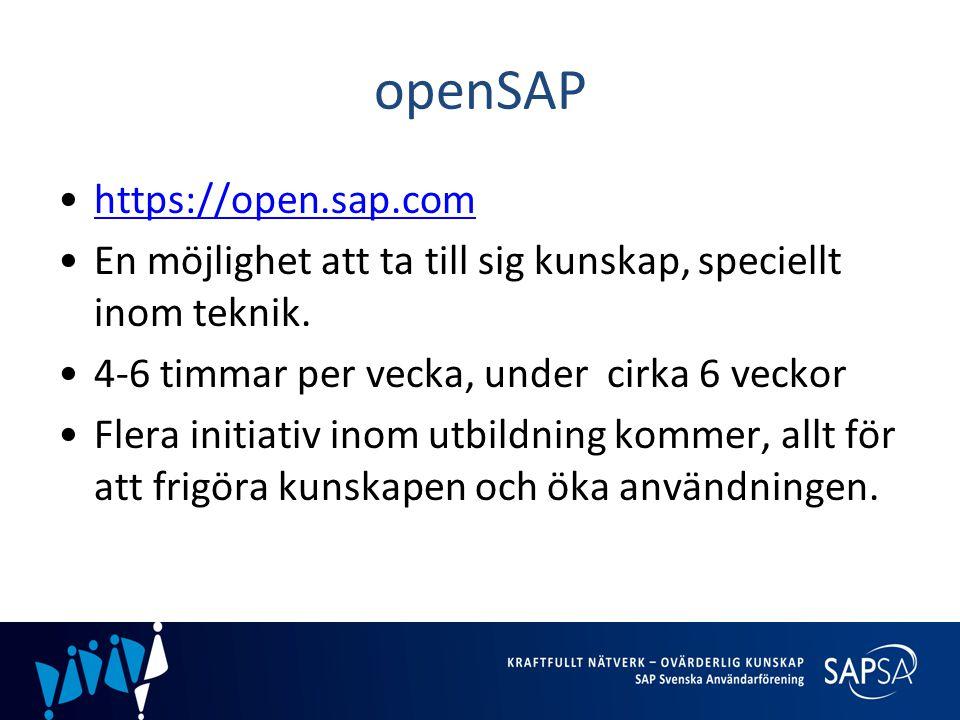 openSAP https://open.sap.com