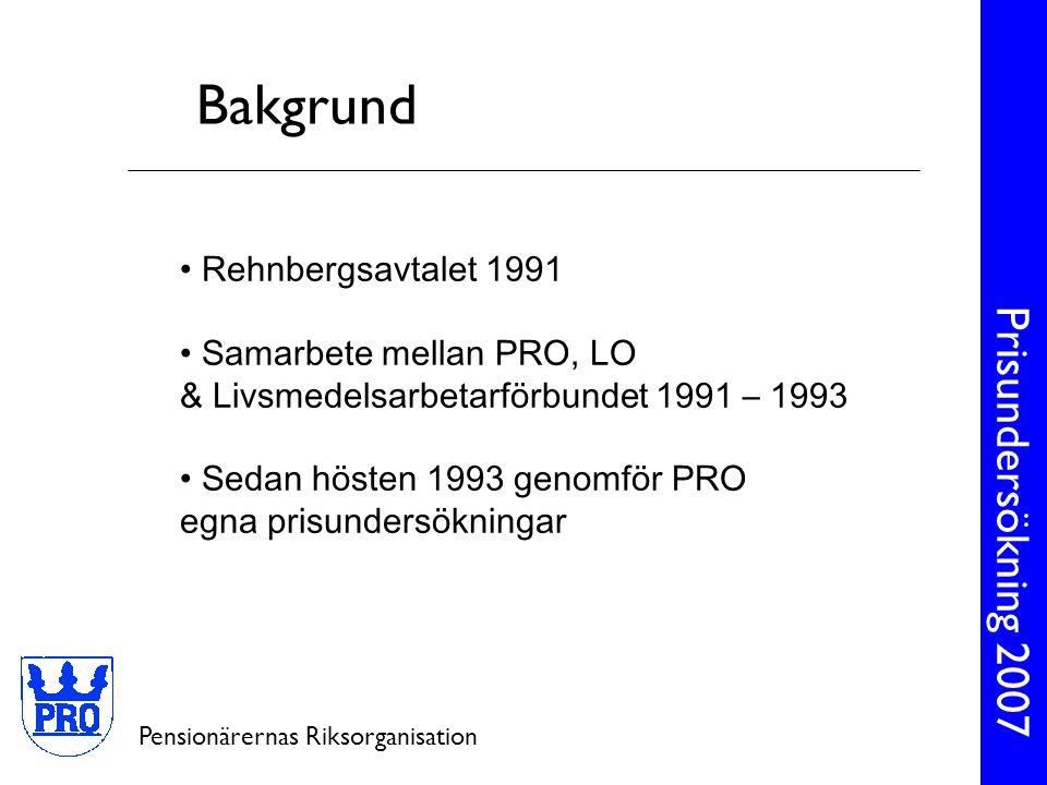 Bakgrund Rehnbergsavtalet 1991 Samarbete mellan PRO, LO