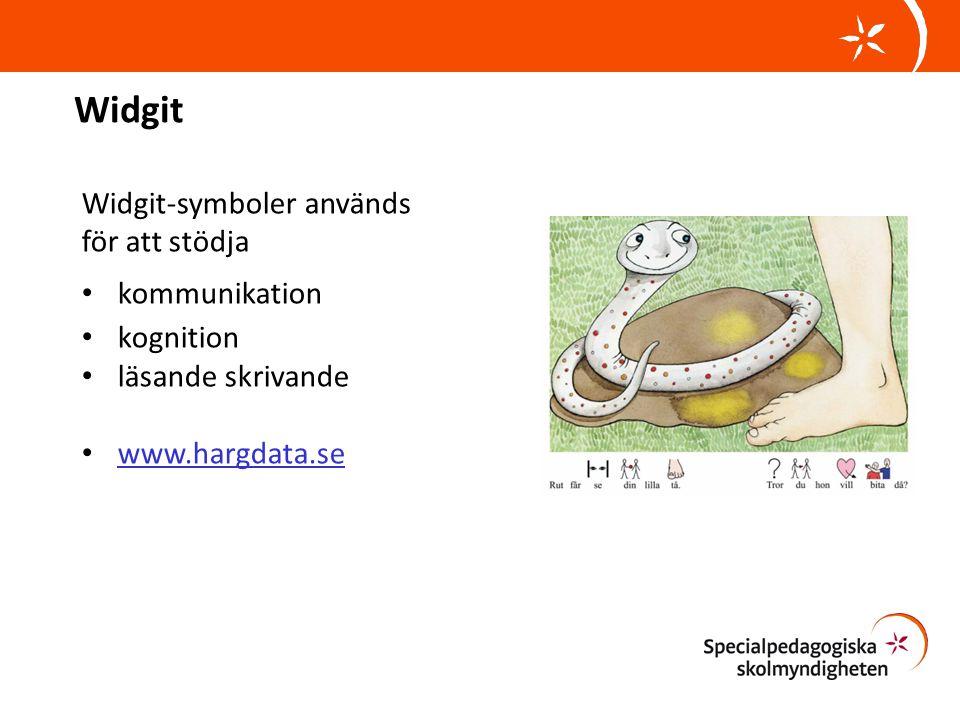 Widgit Widgit-symboler används för att stödja kommunikation kognition